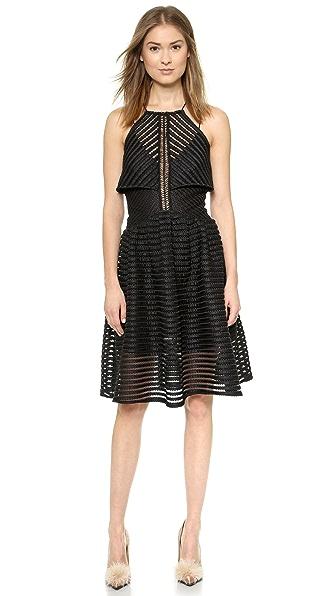 Kupi Self Portrait haljinu online i raspordaja za kupiti Self Portrait Cropped Overlay Dress Black online