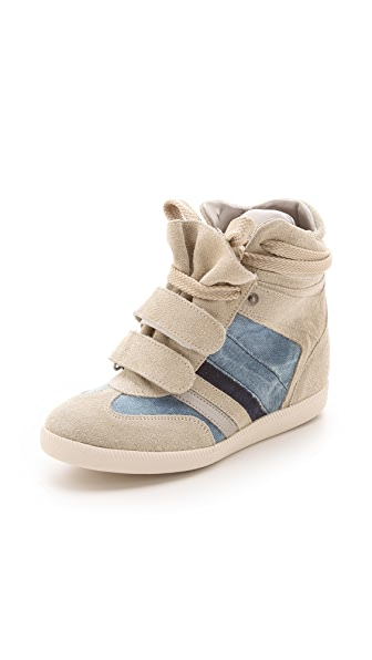 Serafini Manhattan Wedge Sneakers with Denim