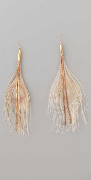 serefina Chain Feather Earrings