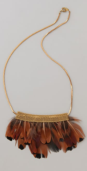 serefina Short Mesh Feather Necklace
