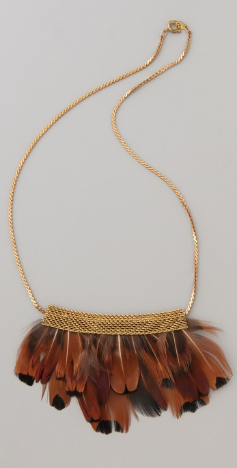 serefina Short Mesh Feather Necklace