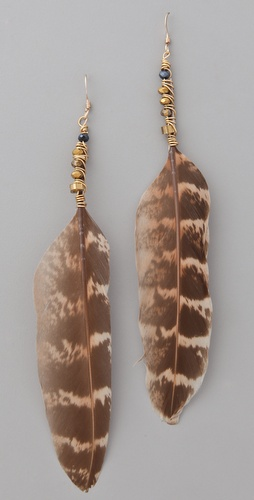 serefina Luxe Feather & Crystal Earrings