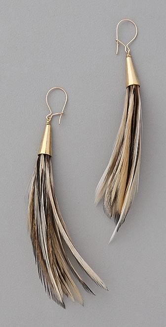 serefina Duster Feather Earrings