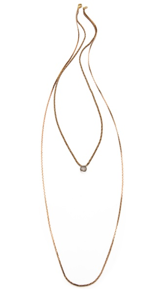 serefina Lone Gem Layering Necklace