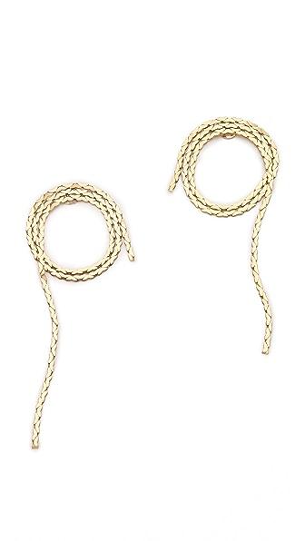 serefina Vintage Chain Rope Stud Earrings