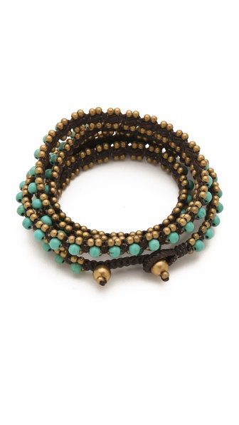 serefina Triple Wrap Gems Bracelet