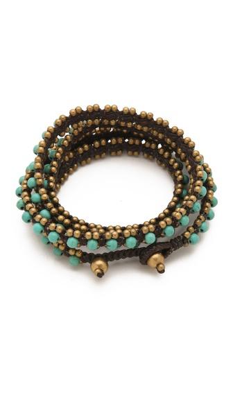 serefina Triple Wrap Gems Bracelet