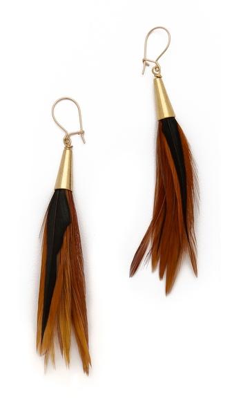 serefina Feather Earrings