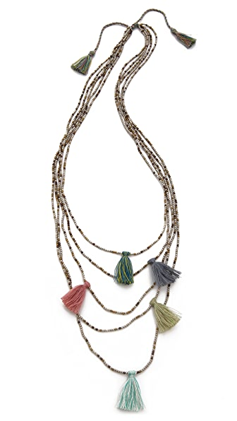serefina Beaded Tassel Necklace