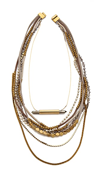 serefina Beaded Layer Pyrite Set Necklace