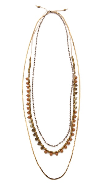 serefina Beaded Layer Necklace