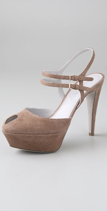 Sergio Rossi Cachet Open Toe Pumps