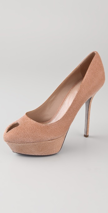 Sergio Rossi Pressed Peep Toe Pumps