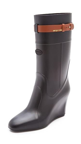 Sergio Rossi Hunting Wedge Rain Boots