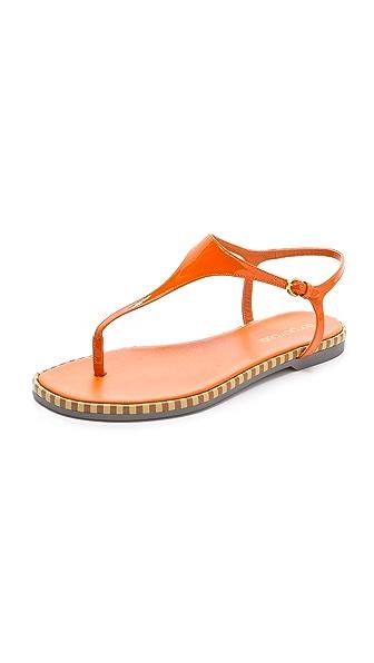 Sergio Rossi Stripe Sole Patent Sandals