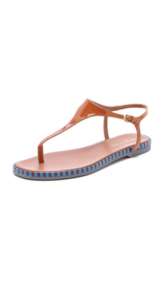 Sergio Rossi Rubber Thong Sandals