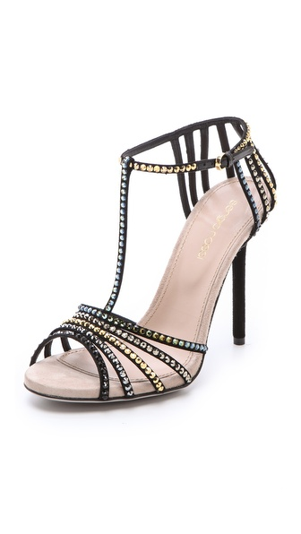 Sergio Rossi Strass T-Strap Sandals