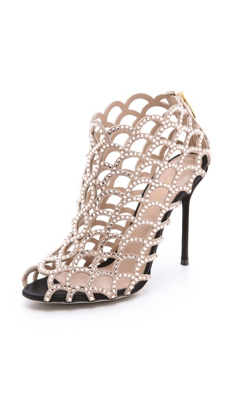 Sergio Rossi Crystal Lattice Booties