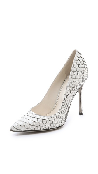 Sergio Rossi Painted Python Pumps