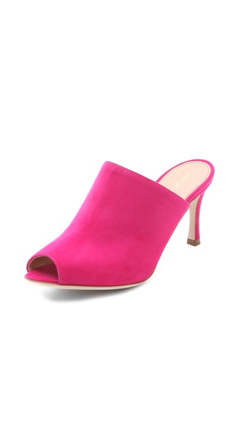 Sergio Rossi Norma J. Suede Mules - Cyclamen at Shopbop / East Dane