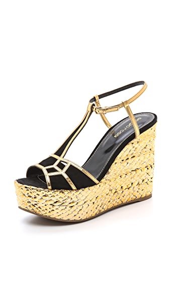 Sergio Rossi Easy Puzzle Wedge Sandals