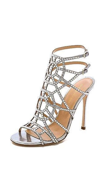 Sergio Rossi Sergio Rossi Crystal Puzzle Heels (Silver)