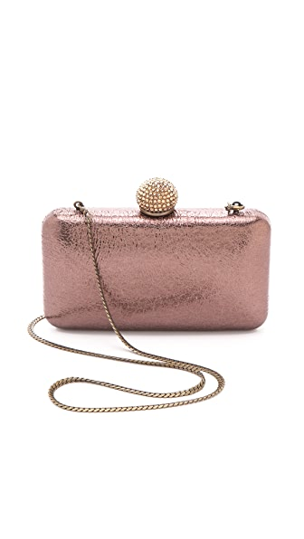 Serpui Marie Metallic Leather Minaudiere