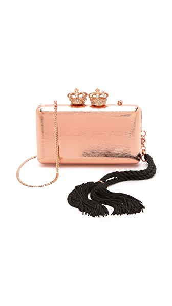 Serpui Marie Metallic Crown Clutch