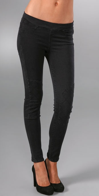 7 For All Mankind Gummy Motorcyle Leggings