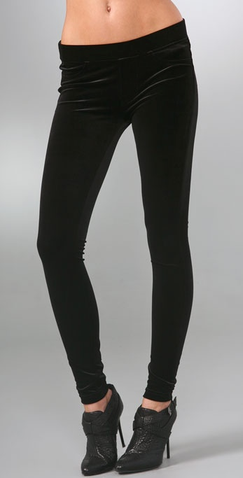 7 For All Mankind 4 Pocket Velvet Leggings