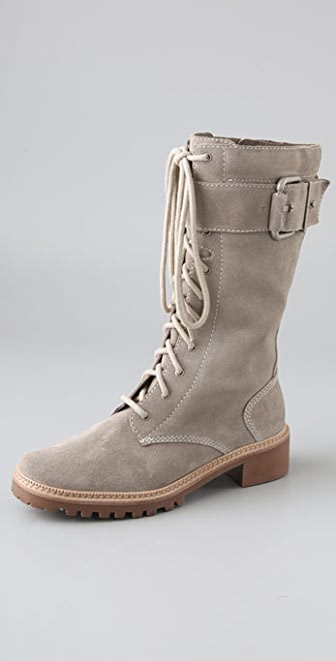 7 For All Mankind Gingerly Suede Combat Boots