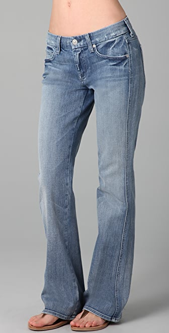 7 For All Mankind A Pocket Boot Cut Jeans with Short Inseam