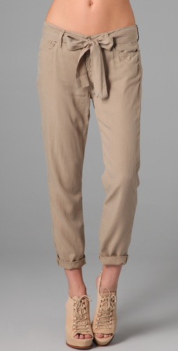 7 For All Mankind Josefina Pants with Tie