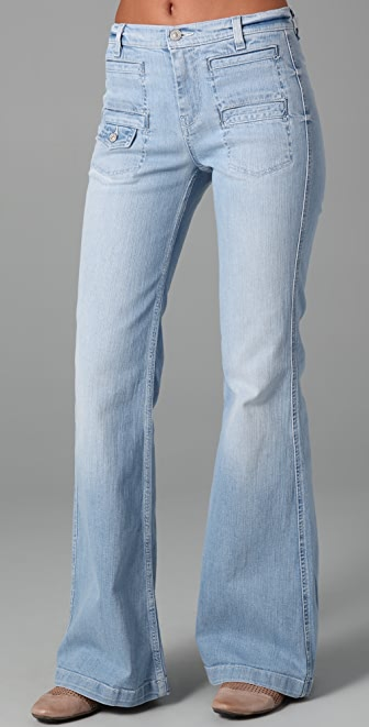 7 For All Mankind Georgi Overcast Vintage Flare Jeans