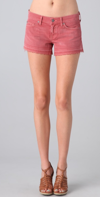 7 For All Mankind Let Down Hem Cutoff Shorts
