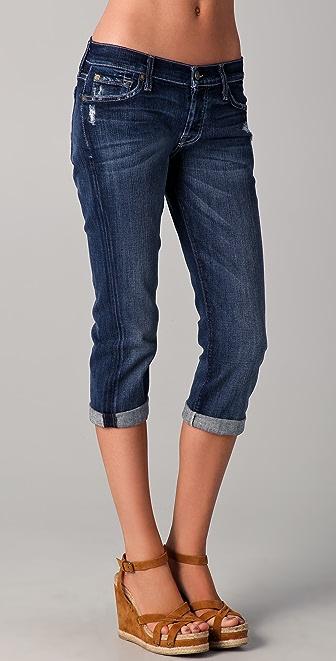 7 For All Mankind Josefina Boyfriend Crop Jeans
