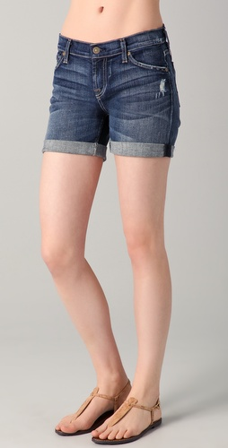 7 For All Mankind Mid Roll Up Shorts
