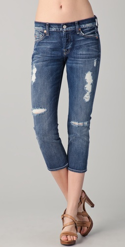 7 For All Mankind Josefina Crop Jeans
