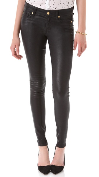 7 For All Mankind High Shine Skinny Jeans