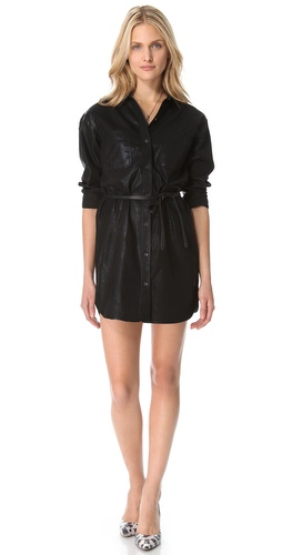 Shop 7 For All Mankind Coated Denim Shirtdress and 7 For All Mankind online - Apparel,Womens,Dresses,Day_to_Night, online Store