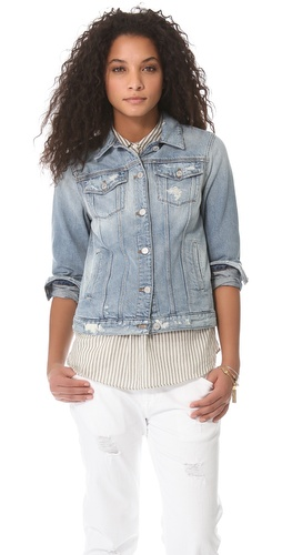 Shop 7 For All Mankind Denim Jacket - 7 For All Mankind online - Apparel,Womens,Jackets,Non_Blazer, at Lilychic Australian Clothes Online Store
