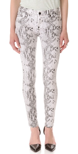 Shop 7 For All Mankind The Coated Reptile Skinny Jeans - 7 For All Mankind online - Apparel,Womens,Bottoms,Jeans, at Lilychic Australian Clothes Online Store