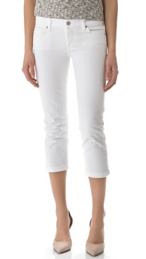 7 For All Mankind Crop & Roll Jeans