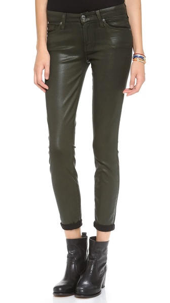 7 For All Mankind The Higher Gloss Gummy Skinny Jeans