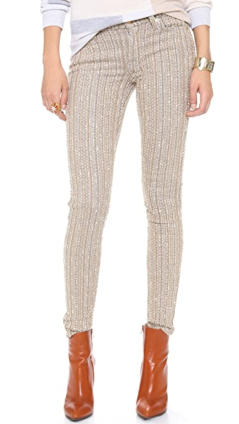 7 For All Mankind The Metallic Tweed Skinny Pants