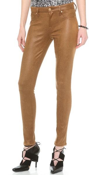 7 For All Mankind Crackle Skinny Pants