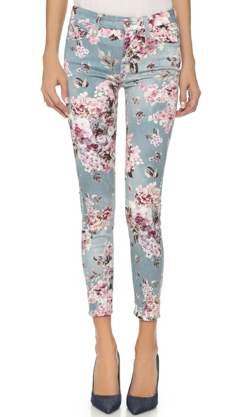 7 For All Mankind The Ankle Skinny Jeans - Victorian Floral