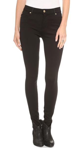 7 For All Mankind The High Waisted Skinny Double Knit Pants