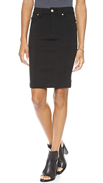 7 For All Mankind High Waisted Seamed Pencil Skirt