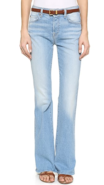 7 for all mankind high waisted boot cut jeans